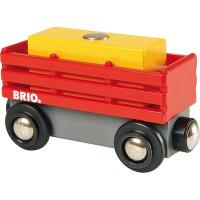 Brio - Červený vagón se žlutým nákladem