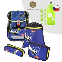 Školní aktovka LIGHT 2 - 4-dílný set, Step by Step Fotbal + lahev za 1 Kč