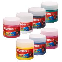 Prstové barvy Kores Dedi Kolor 7 barev, 30 ml