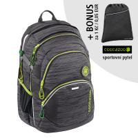 Školní batoh Coocazoo JobJobber2, Black Knit + sportovní pytel za 1 Kč