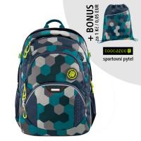 Školní batoh Coocazoo JobJobber2, Blue Geometr + sportovní pytel za 1 Kč