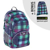 Školní batoh coocazoo JobJobber2, Green Purple District + sportovní pytel za 1 Kč