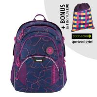 Školní batoh coocazoo JobJobber2, Laserbeam Plum + sportovní pytel za 1 Kč