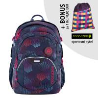 Školní batoh Coocazoo JobJobber2, Purple Illusion + sportovní pytel za 1 Kč