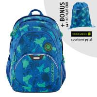 Školní batoh Coocazoo JobJobber2, Tropical Blue + sportovní pytel za 1 Kč