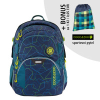 Školní batoh coocazoo JobJobber2, Laserbeam Blue + sportovní pytel za 1 Kč