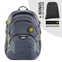 Školní batoh Coocazoo JobJobber2, Solid Shadowman  + sportovní pytel za 1 Kč