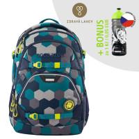 Školní batoh Coocazoo ScaleRale, Blue Geometric Melange + lahev za 1 Kč