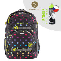 Školní batoh Coocazoo ScaleRale, Magic Polka Colorful + lahev za 1 Kč
