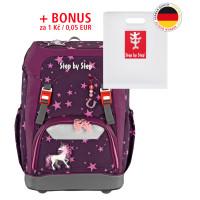 Školní batoh GRADE Step by Step - Jednorožec + desky na sešity za 1 Kč