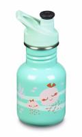 Dětská nerezová lahev Klean Kanteen Kid Classic w/Kid Sport Cap 3.0 - jellyfish 355 ml