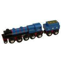 Bigjigs - Originální dřevěná lokomotiva - LMR Gordon