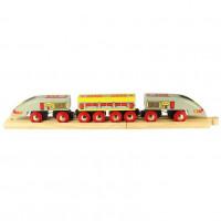 Bigjigs -  Osobní vlak - Rychlík Eurostar