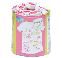 Stampo textil - kytičky - 15 ks
