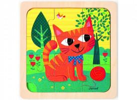 Kocour Felix - dřevěné puzzle - 9 ks