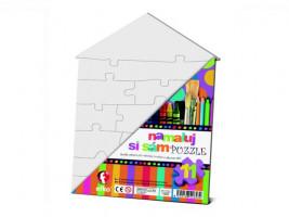 Namaluj si sám puzzle - domeček