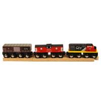 Bigjigs - CN nákladní vlak + koleje (2ks)