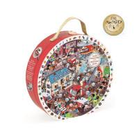 Puzzle kulaté - Naši hrdinové hasiči - 208 ks