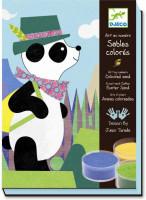 Výtvarná hra s pískem Panda a její kamarádi