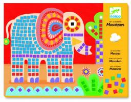Mozaika - slon a šnek