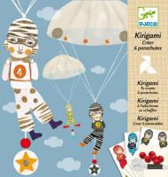 Kirigami - výroba parašutistů