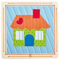 Kreativní sada textilní koláž - Domeček