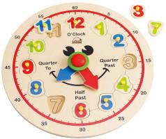 Veselé dřevěné hodiny