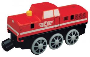 Maxim - dieslová elektrická lokomotiva červená