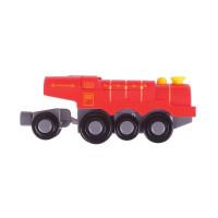 Bigjigs - elektrická lokomotiva červená Flying Scotsman