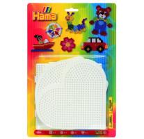 Hama Midi - podložky - srdce, kruh, čtverec,šestiúhelník
