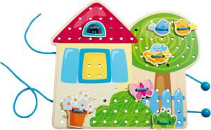 Grétin zahradní domek - prošívání
