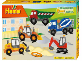 Hama Midi - Velká dárková sada - Stavební stroje