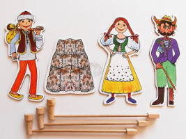 Marionetino - Loutkový balíček s tyčkami - Čert a Káča