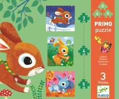 První puzzle - Králíčci 3, 4, 5 ks