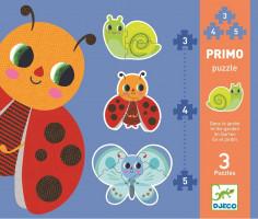 První puzzle - Na zahradě - 3, 4, 5 ks