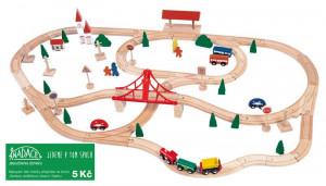 Vláčkodráha s mostem a nádražím - 90 dílů