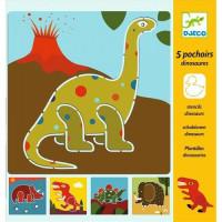 Kreslící šablony - Dinosauři