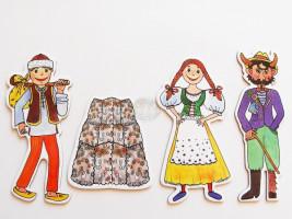Marionetino -  Loutkový balíček bez tyček - Čert a Káča
