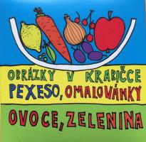 Pexeso - omalovánky - ovoce a zelenina