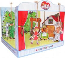 Marionetino - Loutkové divadlo sada s pohádkou Červená karkulka