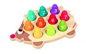 Ježek - čísla a barvy