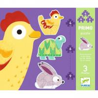 První puzzle - Zvířátka - 4, 6, 9 dílků