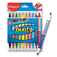 Dětské fixy Maped Color´Peps Duo Tip - 10 barev