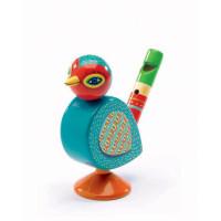 Dřevěná píšťalka ptáček - Animambo
