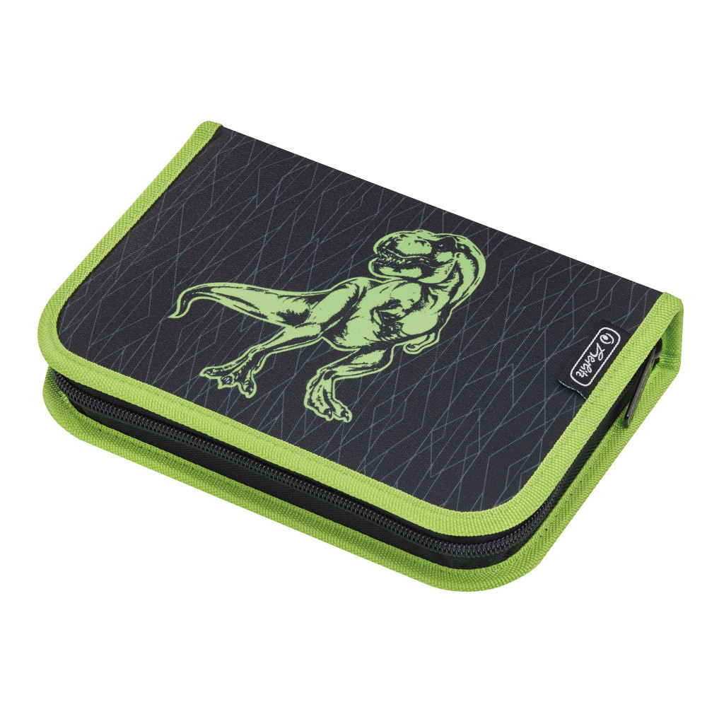 3d38ad20094 Vybavený penál Herlitz - Dinosaurus zelený