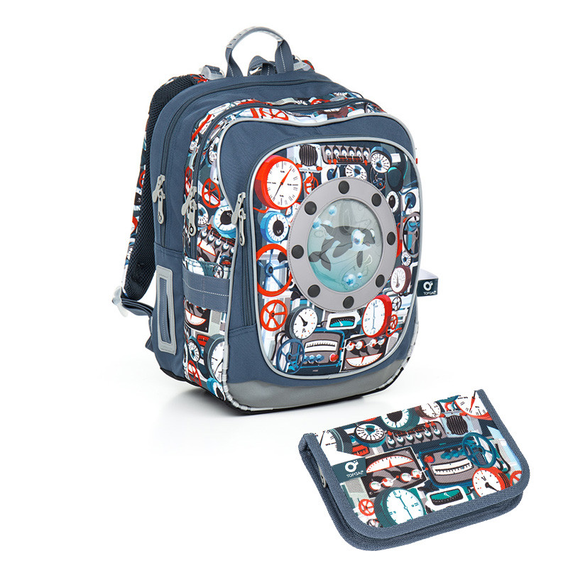 30e5cb5756 Školní batoh a penál Topgal - CHI 791 Q Tyrquise + CHI 809 Q ...