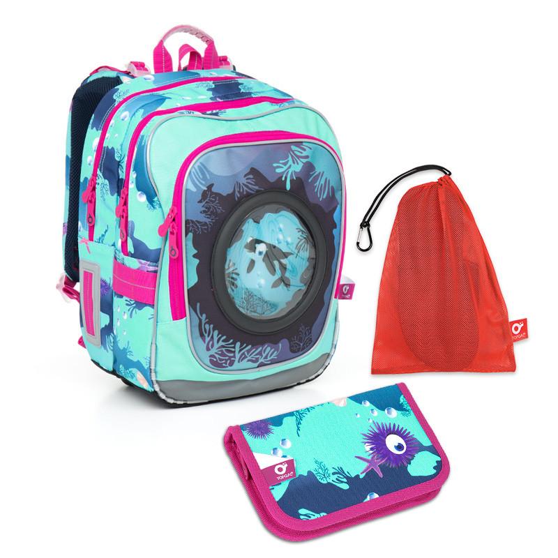 Školní set Topgal - CHI 790 D Blue + CHI 825 D + pytlík na přezůvky ... dc41e4d861
