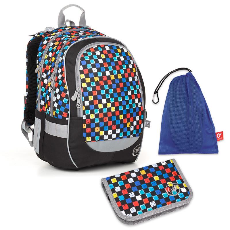 Školní set Topgal CODA18020 B - batoh + penál + pytlík na přezůvky ... 1ed0e91786