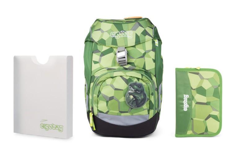 Školní set Ergobag prime zelený - batoh + penál + desky  d85d4fd4fa