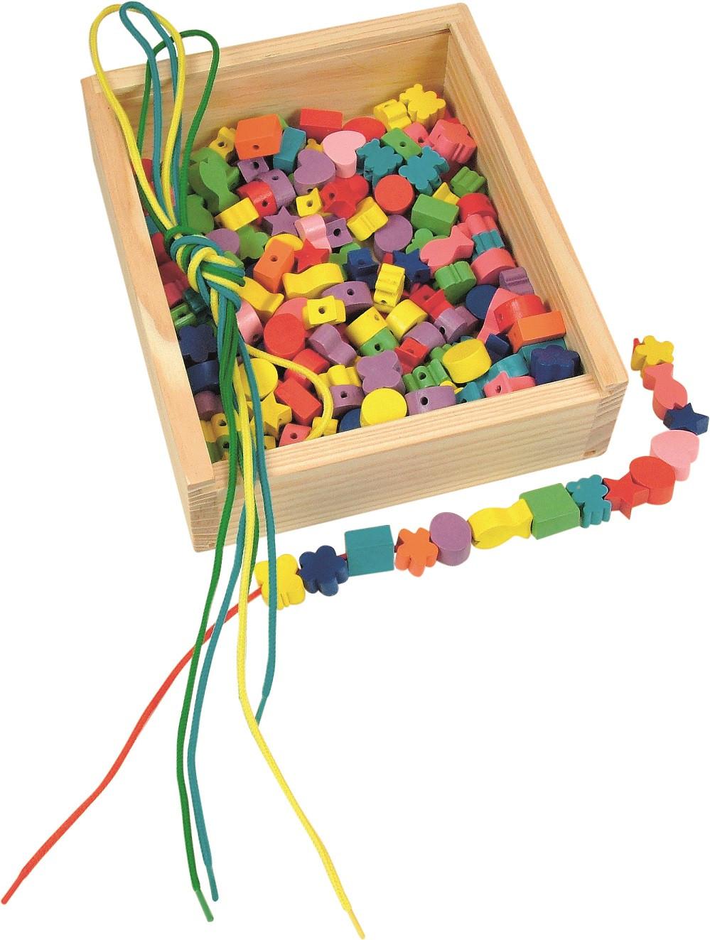 4cf664dbea3 Dřevěná krabička Navlékací perle